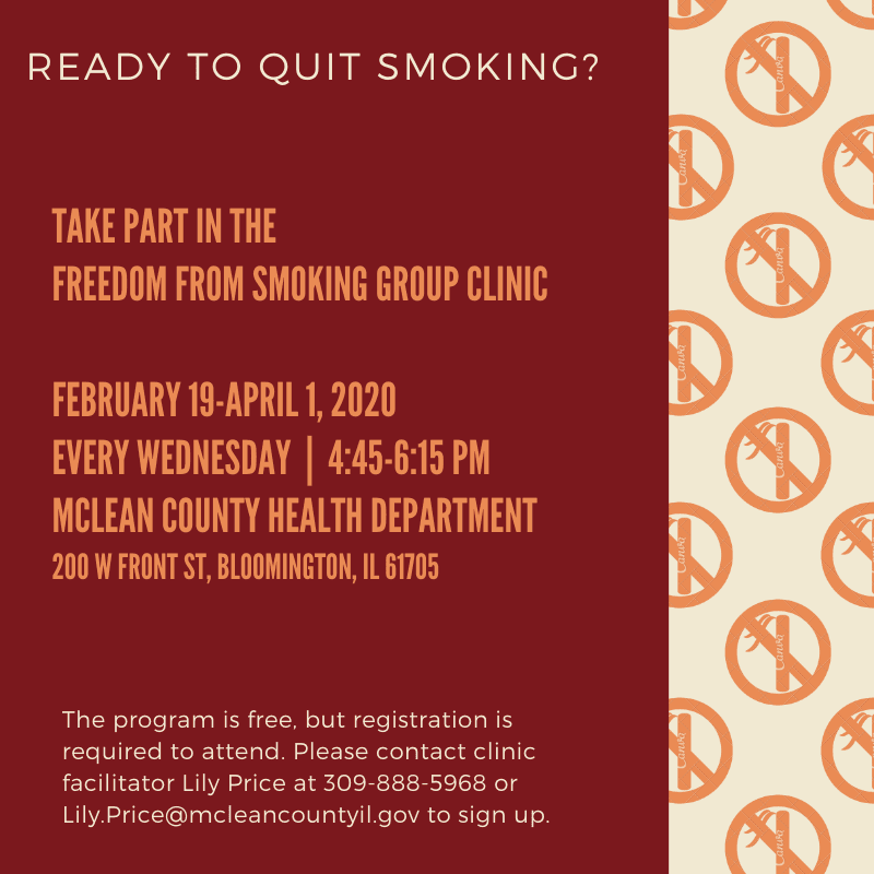Freedom from smoking group clinic