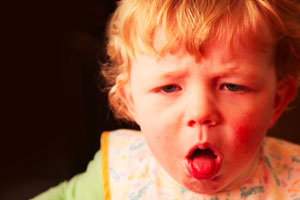 Young Child Coughing